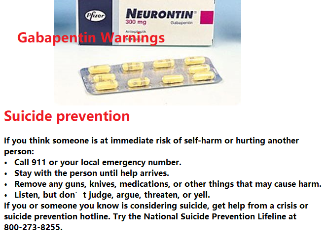 Gabapentin Warnings